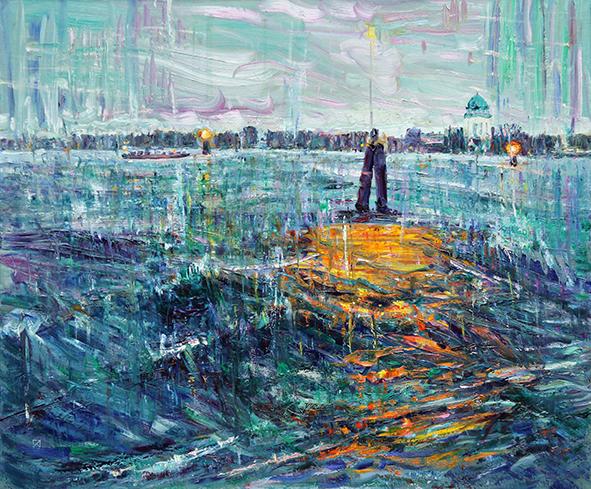 Lido. Return. 2012. Oil on canvas. 100 х 120