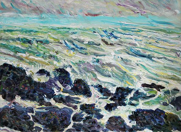 North Sea. 2012. Oil on canvas. 75 х 100