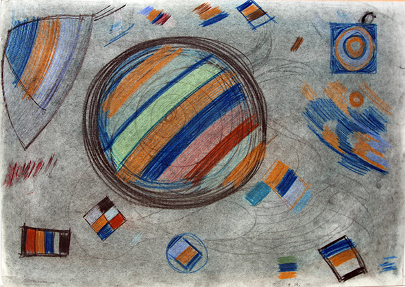 Ambit (right part). 1991. Charcoal, pastel on paper. 61 х 86