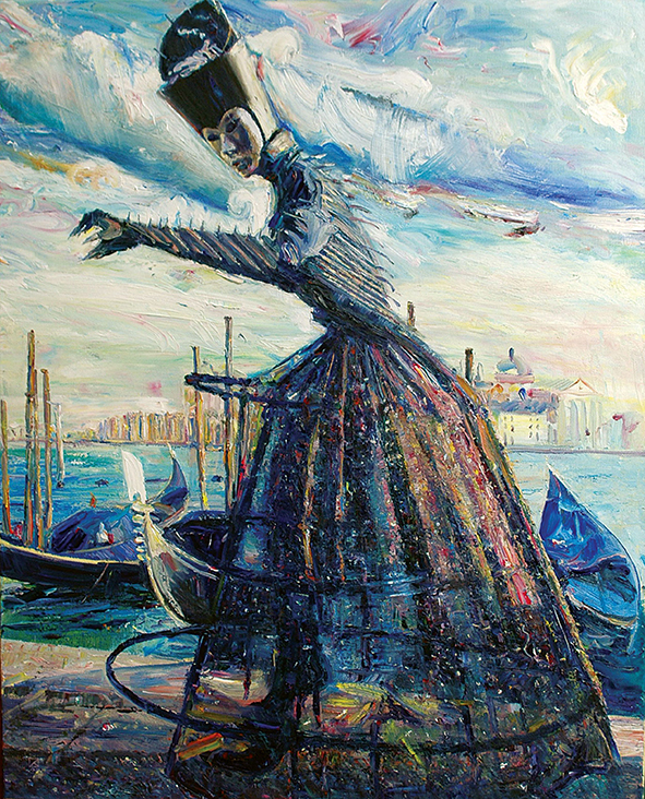 Monumental Figure. 2010. Oil on canvas. 100 x 80