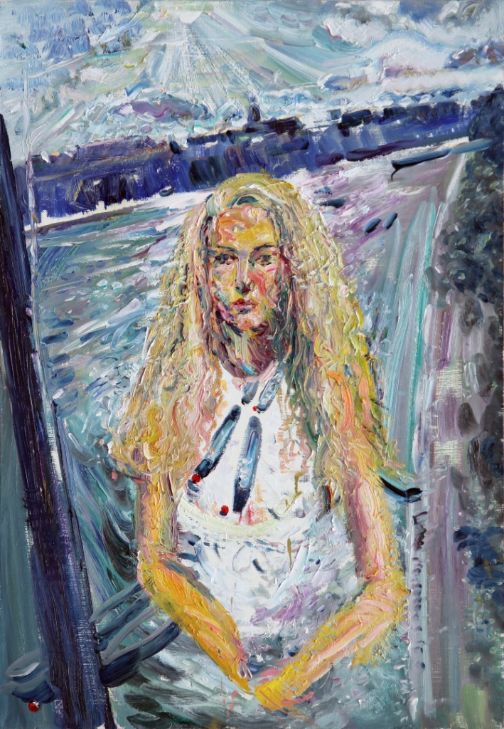 Girl Alina. 2012. Oil on canvas. 100 x 70