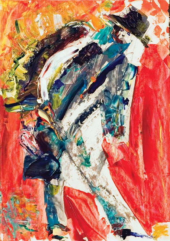 Casual Passer. 2010. Oil on cardboard. 29.5 х 21