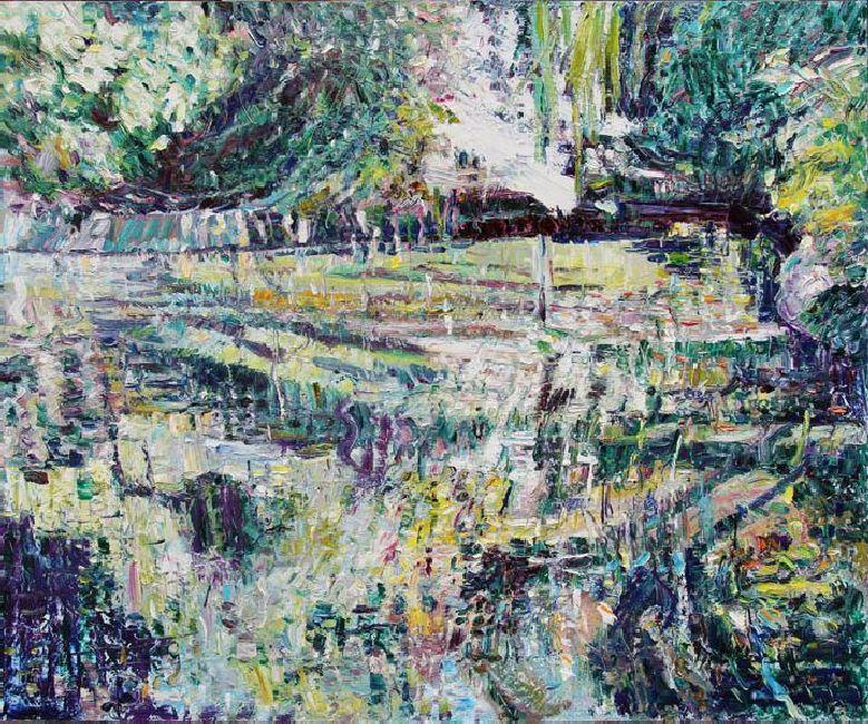 Miramare. Silver. 2011. Oil on canvas.  100 х 120