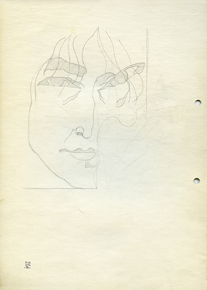 Hat. 1991. Pencil on paper. 30 х 21