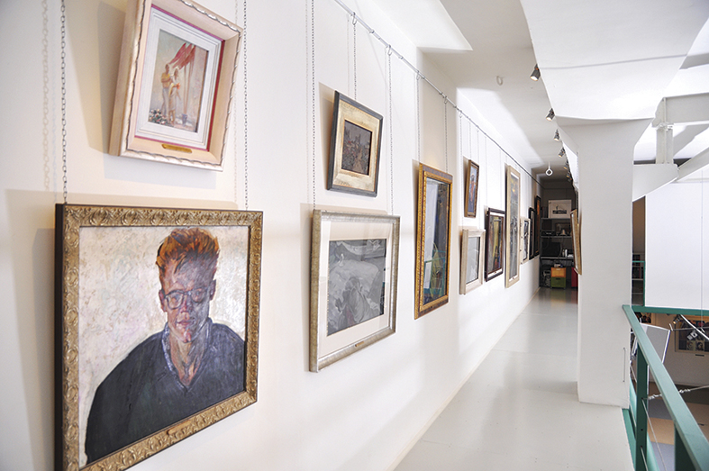 Interior of the Art Agency Colony gallery on Red October.