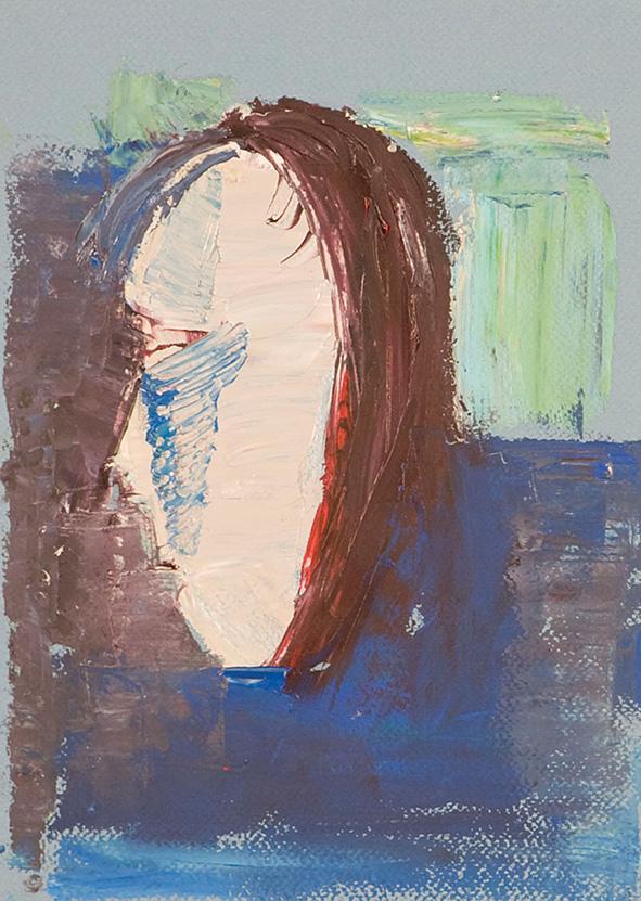 Girl -Clown. 2010. Oil on cardboard. 29.5 x 21