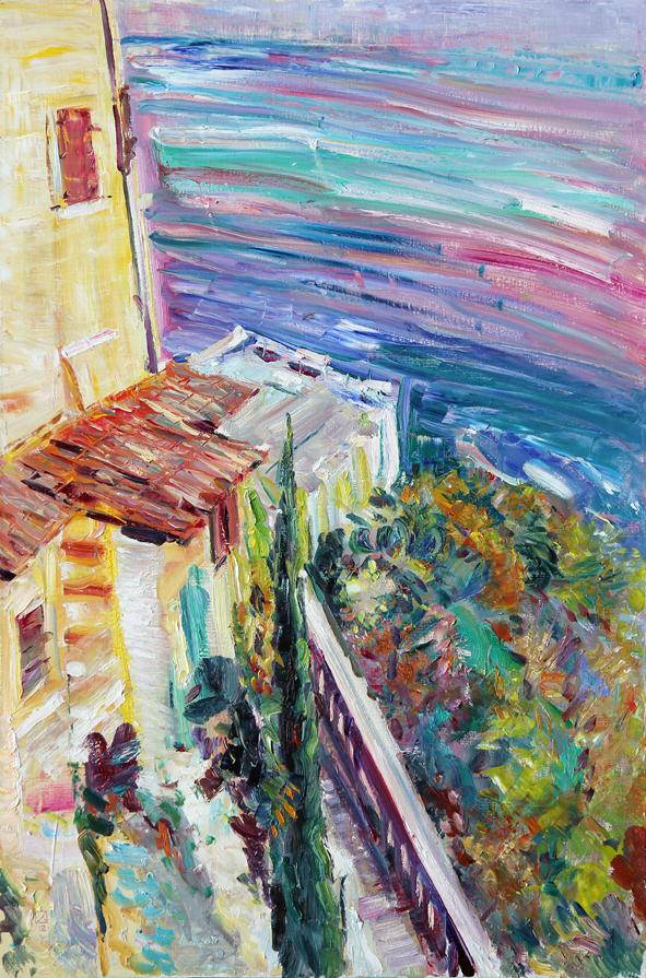 To Rilke's Table. 2012. Oil on canvas. 120 х 80