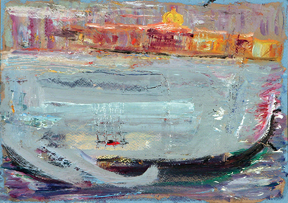Far Wind of the Gondolier. 2010. Oil on cardboard. 21 x 29.5