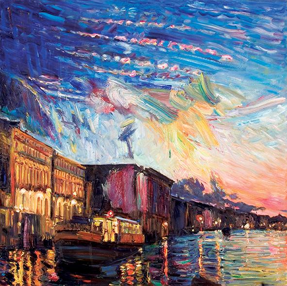 Blue Evening. 2010. Oil on canvas. 100 х 100