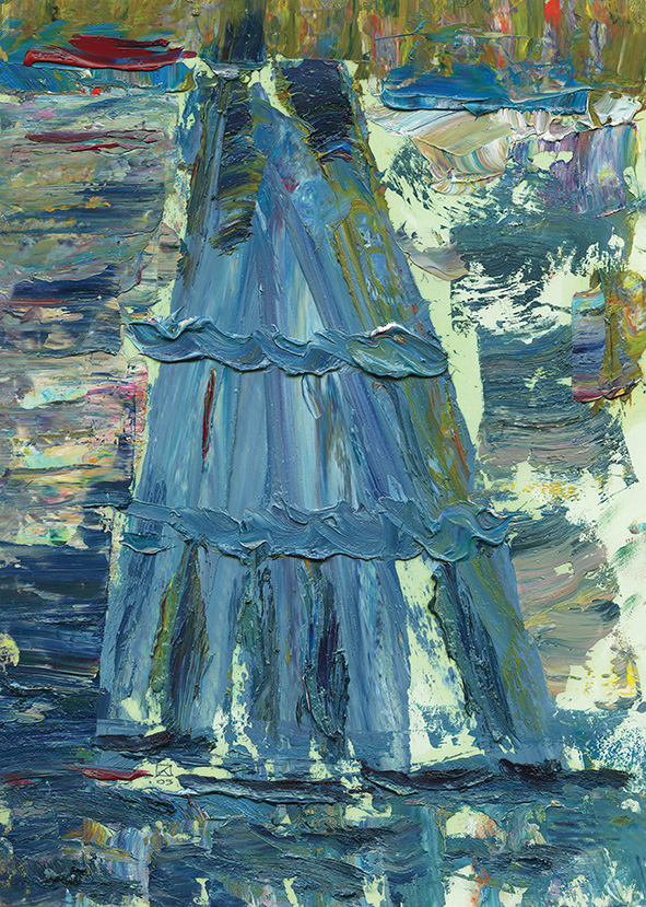 Berthing Constructions. 2009. Oil on cardboard. 29.5 х 21