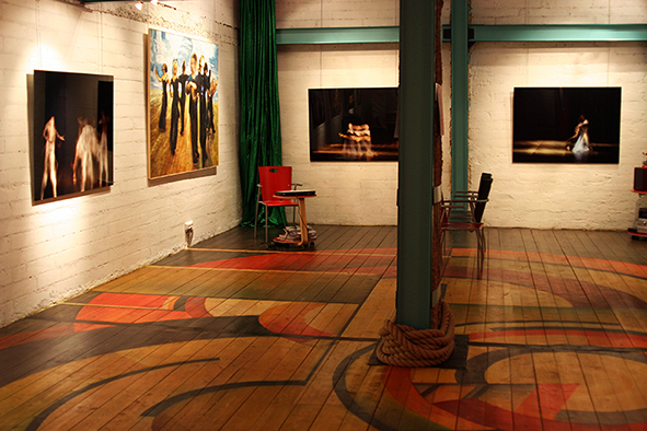 The exposition of the project 'Clouds', Art Colony gallery, Art Play, Moscow. 2008