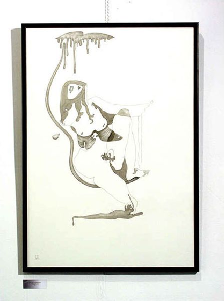 Adam's Rib. 2001. Ink on paper. 100 x 70