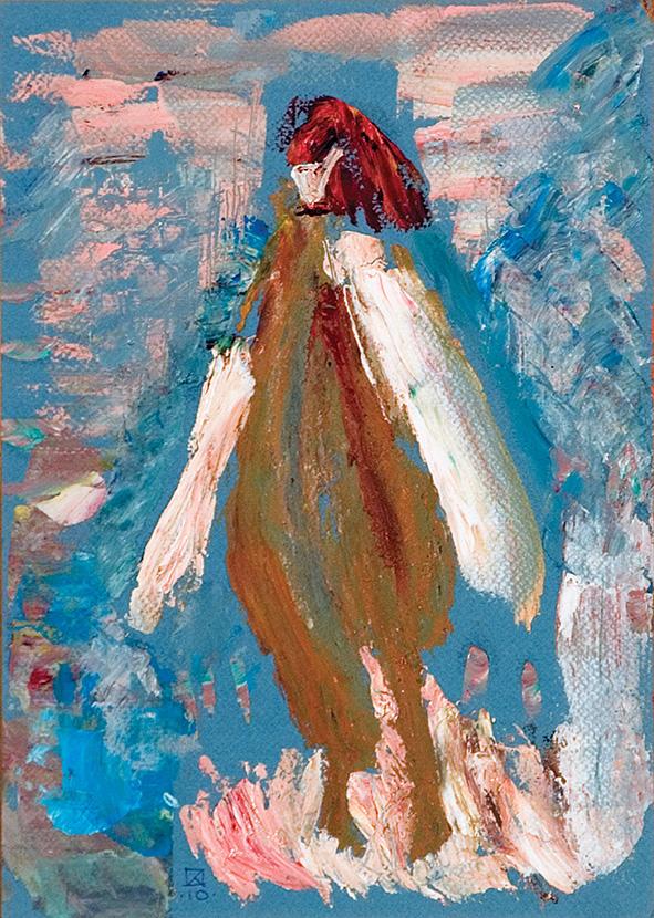 Fancy Chick. Venice. 2010. Oil on cardboard. 29.5 х 21