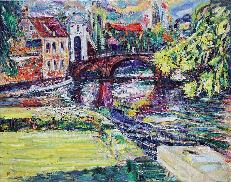 Bridge to the Beguines. 2012. Oil on canvas. 123 х 158