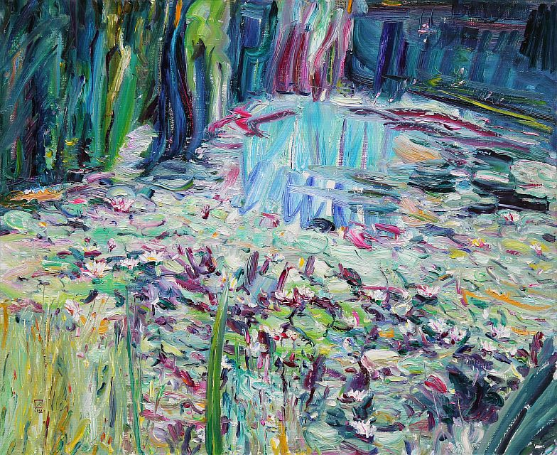 Marvelous Pond. 2012. Oil on canvas. 90 х 110