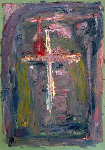 Grieving. 2011. Oil on cardboard. 29.5 x 21