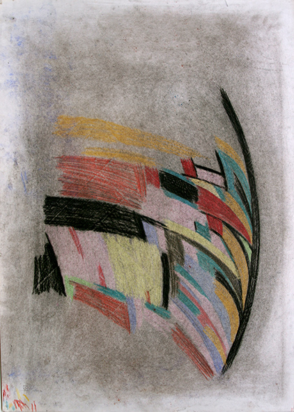 Axis (left part). 1991. Charcoal, pastel on paper. 86 х 61