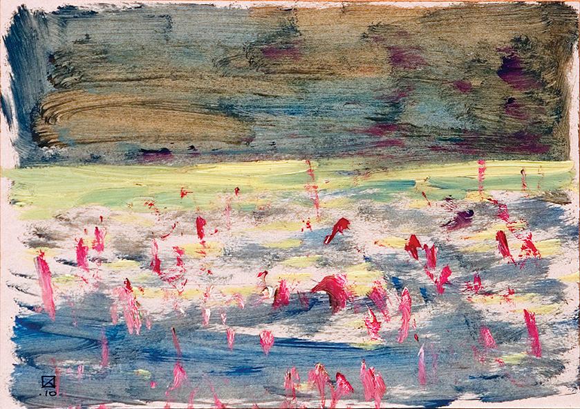 Lido. Venice. 2010. Oil on cardboard. 21 х 29.5