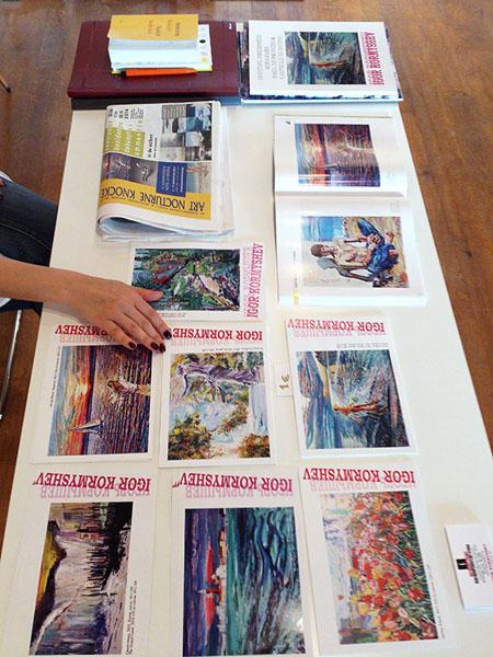 Postcards and catalogs of the Igor Kormyshev gallery