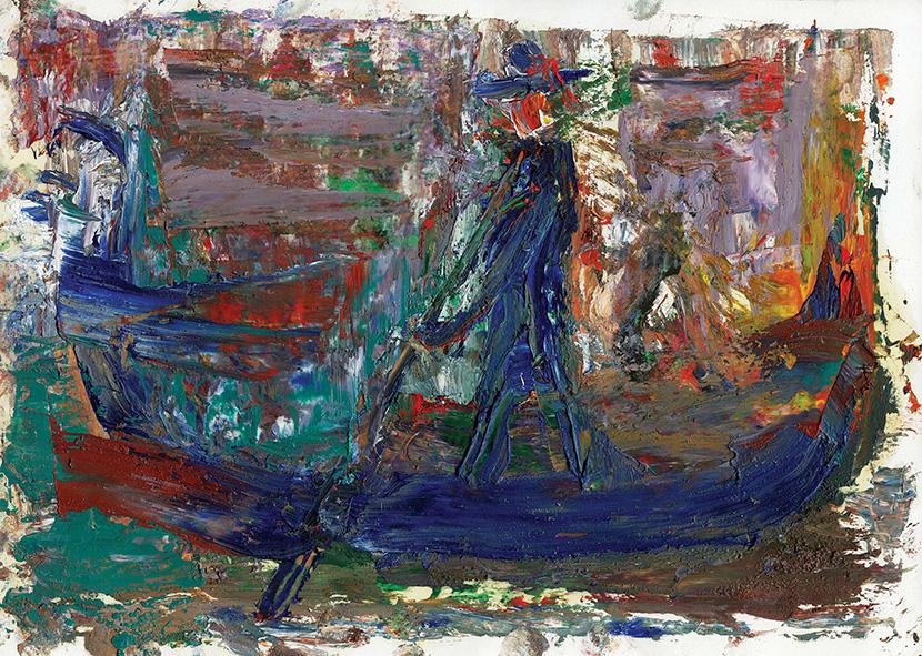 Arrangement for Venice. 2009. Oil on cardboard. 21 х 29.5