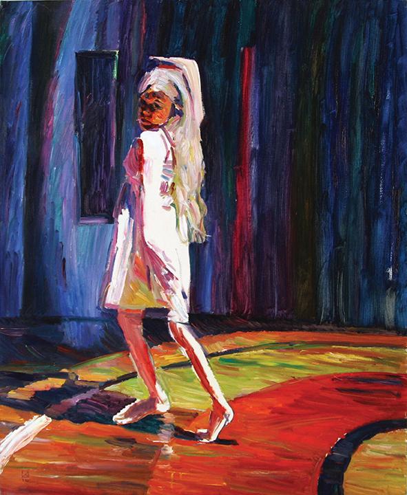 Daughter. My angel. Venice. Dance. 2010. Oil on canvas. 100 х 80