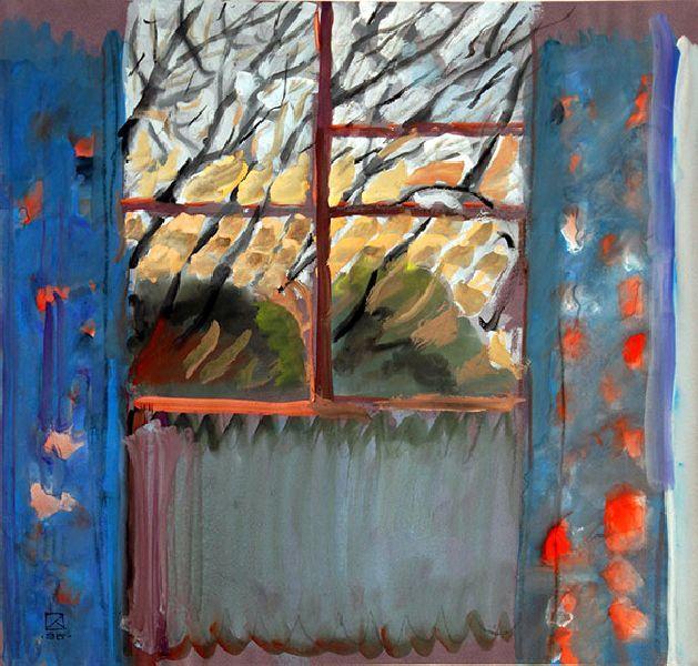 Window (Spring). 1995. Mixed tech. on paper. 40.5 х 42.5