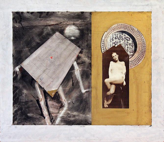 Kate Moss. 1994. Mixed media in fiberboard. 60 х 71