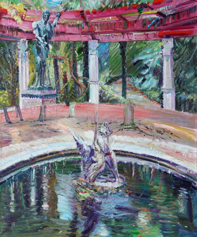 Living World in my Decorations. 2012. Oil on canvas. 120 х 100
