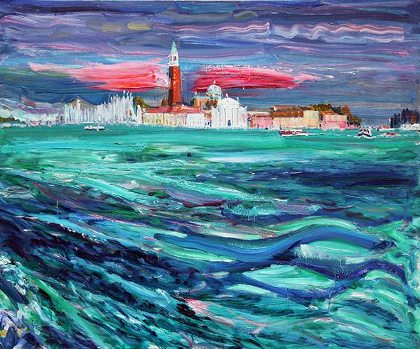 Rapid Flood. 2012. Oil on canvas. 100 х 120