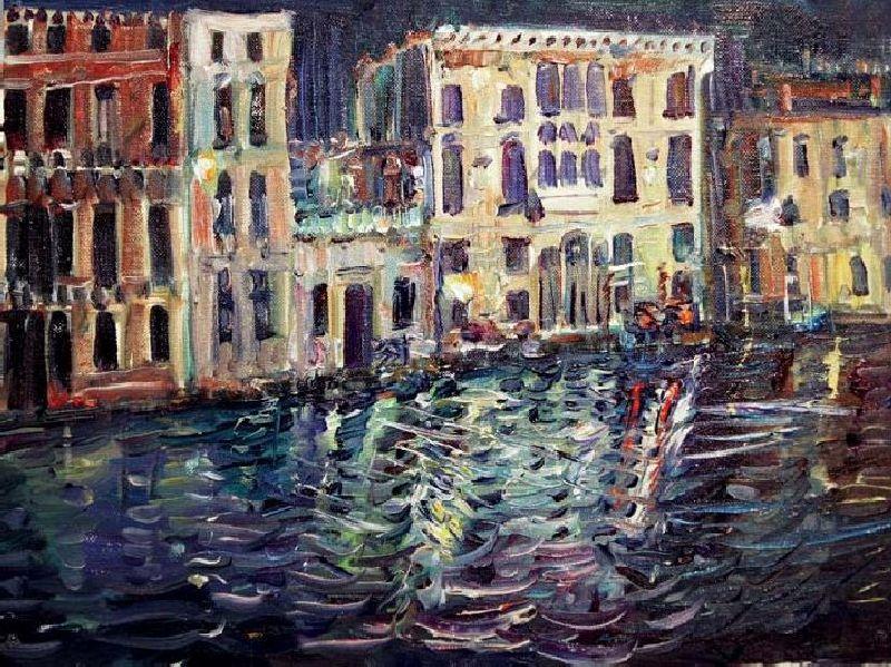Venice. Night. 1:00 am.  2010. Oil on canvas, cardboard. 30 х 40