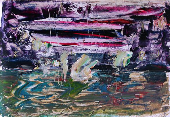 Wild Lake. 2010. Oil on cardboard. 20 х 29.5