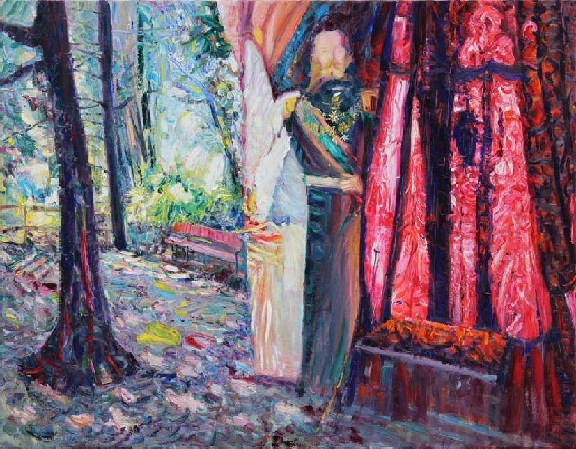Miramare. Maximilian. Throne. 2011. Oil on canvas. 120 х 140