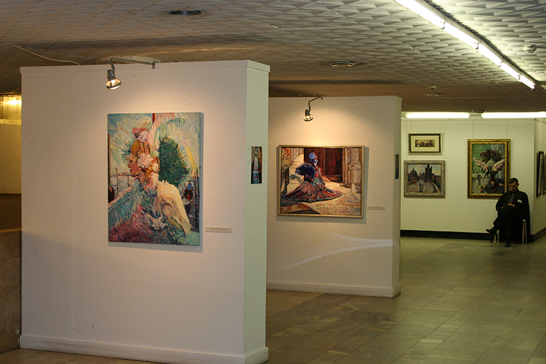 Exhibition in the Central Haus of Artists, hall 3, Moscow. 13.04-19.05.2010