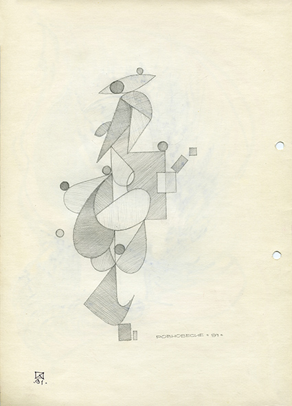 Equilibrium. 1991. Pencil on paper. 30 х 21