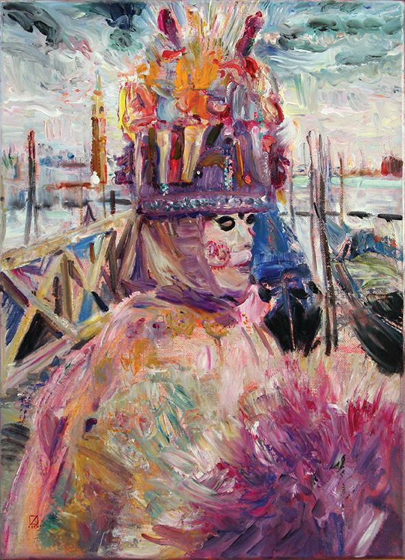 No Death for Venice! 2010. Oil on canvas. 59.5 х 45