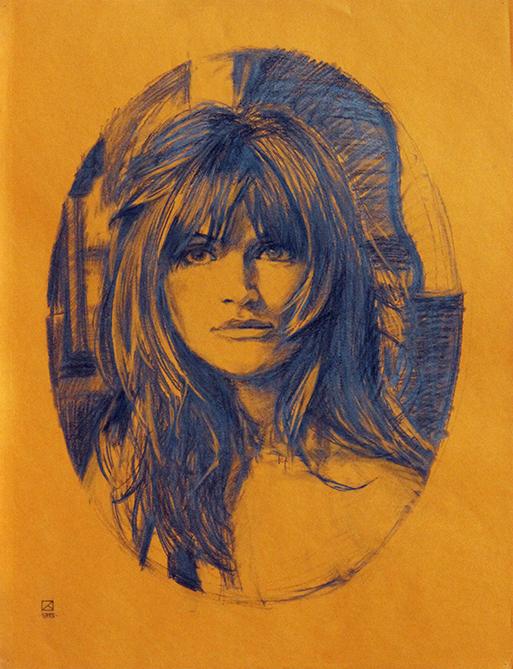 Helena Kristensen. 1995. Pencil on paper. 64.5 x 49.5