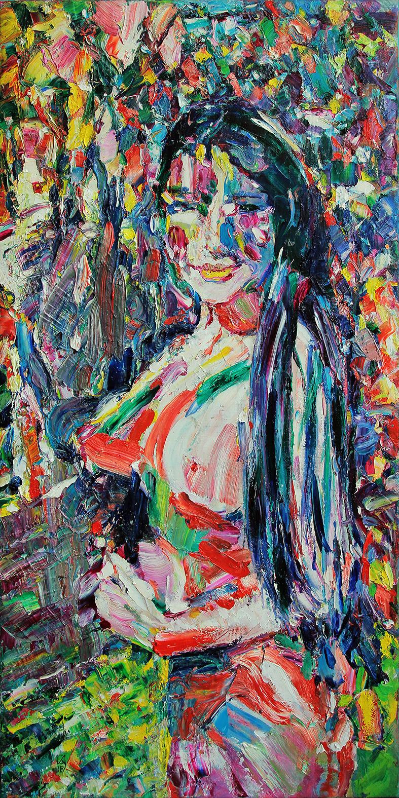 Stranger. 2018. Oil on canvas. 80 х 40