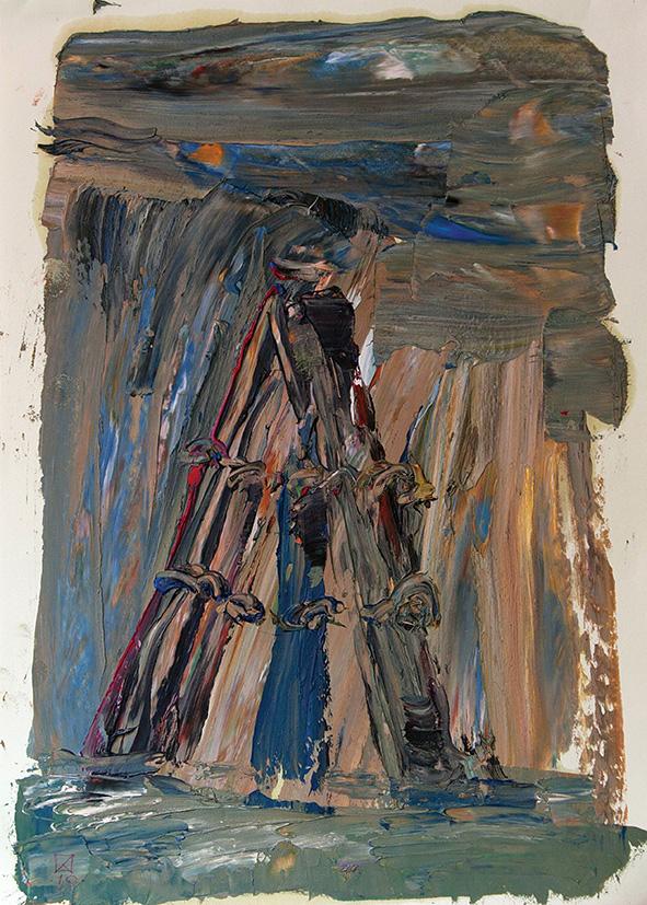 Guiding Pillars. 2010. Oil on cardboard. 29.5 х 21