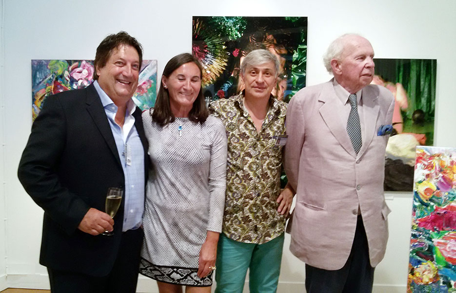 At the opening with a Count Leopold Lippens, the mayor of the city, and the Tuteleers family, the organizers of the Art Nocturne Knocke