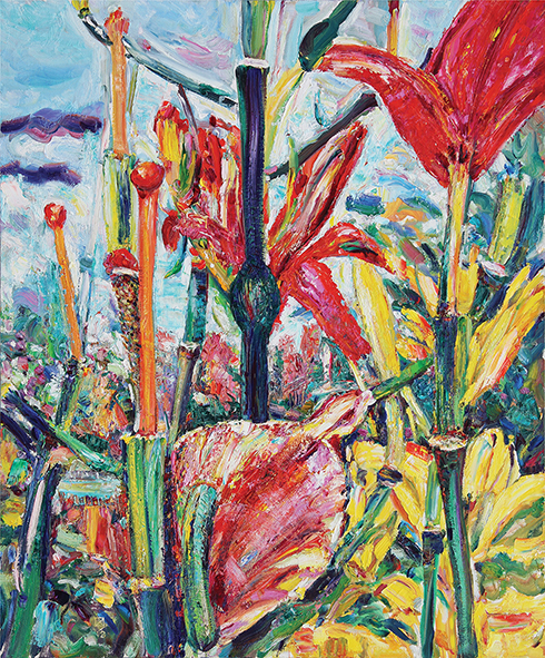 Ding-Dong of Lilies. 2013. Oil on canvas. 120 х 100