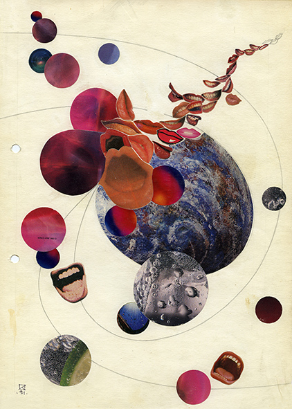 Untitled. 1991. Collage on paper. 30 х 21