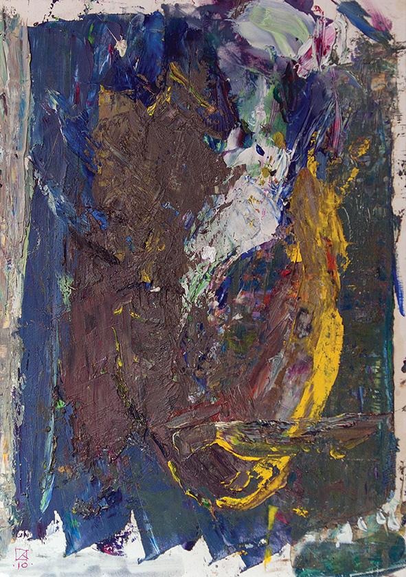 Deuce. 2010. Oil on cardboard. 30 х 21