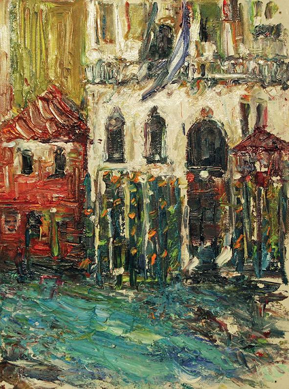 Venetian Arch. 2010. Oil on canvas, cardboard. 40 х 30