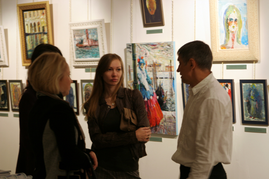 Vernissage of the exhibition 12.10.2010. Art-Agency Colony Gallery, Red October, Moscow