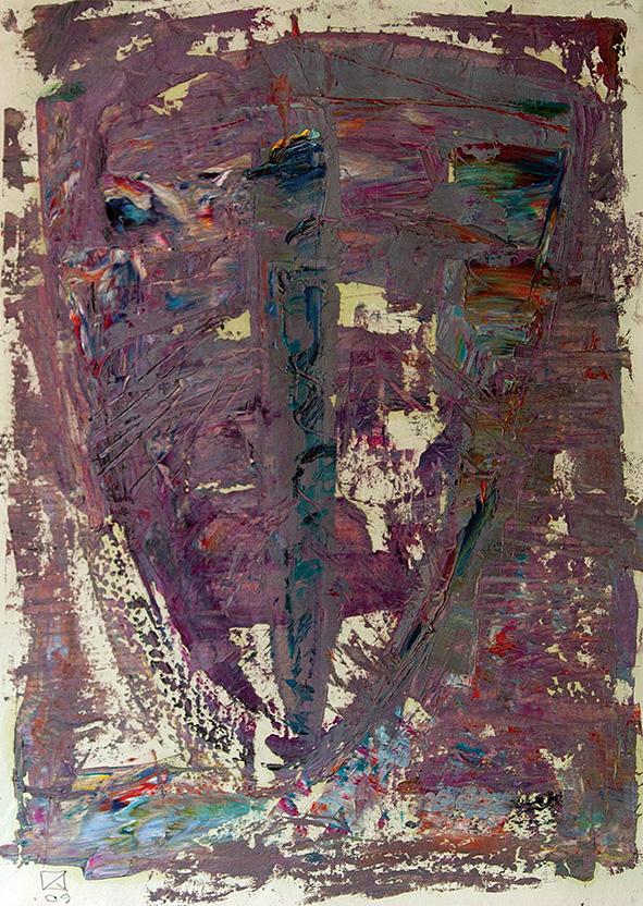 Venetian Sword. 2009. Oil on cardboard. 29.5 х 21