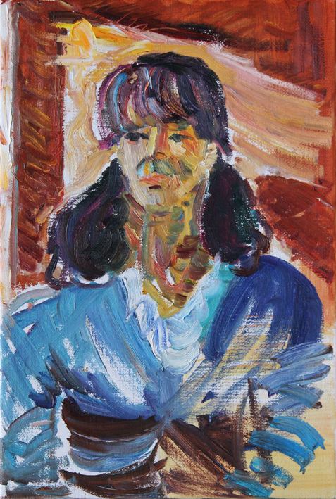 Portrait of a Girl from Hotel.  2011. Oil on canvas. 60 x 40