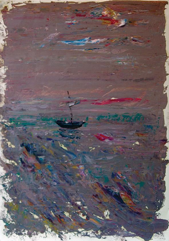 After Sunset. 2009. Oil on cardboard 29.5 х 21
