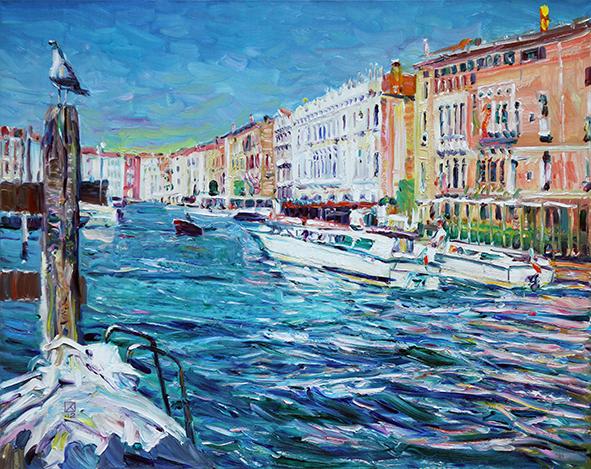 Summer Tale. My Favorite Venice! 2013. Oil on canvas.  100 х 120