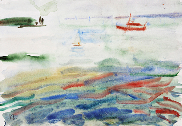 Wild Lake. 1998. Watercolor on paper. 21 х 30