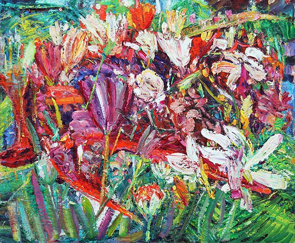 Dance of Tulips. 2013. Oil on canvas. 100 х 120